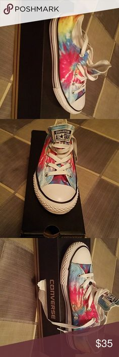 Converse tye dye Awsome,new in box,very cool shoes Converse Shoes Athletic Shoes