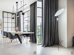 TARASOVO on Behance Interior Design Photography, Dining Room Inspiration, Interior Architecture, Curtains, Adobe Photoshop, Behance, Table, Furniture, Home Decor