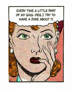 "Comic Girls Say. "" Things I learned in therapy today. Comic Kunst, Comic Art, Comic Books, Vintage Pop Art, Romance Comics, Photo Caption, My Demons, Comic Panels, Comics Girls"