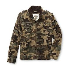 ***Route 66- -Boy's Corduroy Jacket - Camouflage {L}
