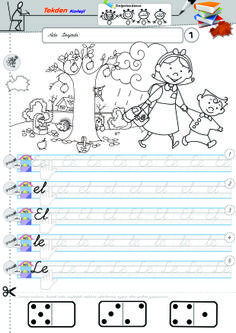 Okuma yazma 01 Grade 1, Montessori, Homeschool, Bullet Journal, Education, Words, Fine Motor, Training, Educational Illustrations