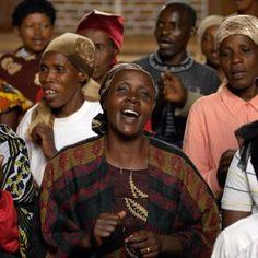 Praising God together in Rwanda