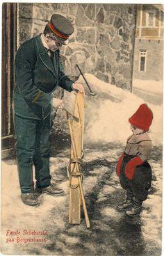 Hordaland fylke Første skiløberske på Bergensbanen brukt 1911