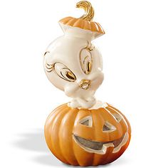 LENOX Figurines: Halloween - TWEETY's Pumpkin Figurine
