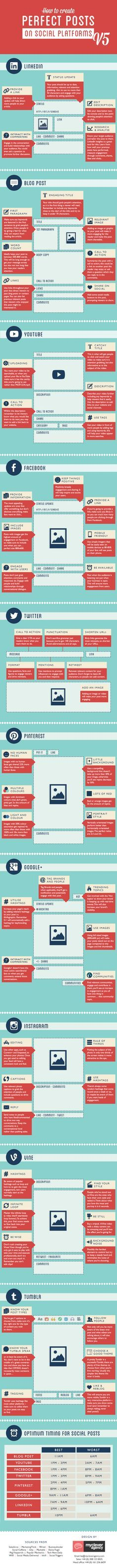 How to create perfect posts on Social platforms V5 #infographic