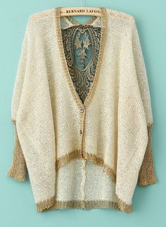 Lace Sequined Sweater - Sheinside.com