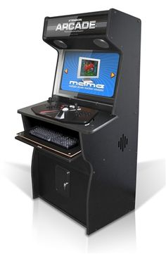Pro Upright Xtension Arcade Cabinet For The X-Arcade Tankstick for PC and MAME is a retro style arcade gaming cabinet that makes gaming now more affordable than ever! Gaming Cabinet, Diy Arcade Cabinet, Arcade Game Machines, Arcade Machine, Arcade Game Console, Video Game Console, X Games, Geek Games, Arcade Controller