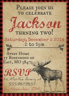Rustic Moose Lumberjack Themed Birthday Party by themilkandcreamco