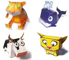 Cute selection of tiger, whale, rat, cow, cat, dog and many other animal paper toys for kids. | Hey guys, today we have a few animal papercrafts I want to share with. They are cute and easy to make which are mean for kids and anyone who love cute papercrafts. Beside animals there are also robots and custom made characters. Check them out. Somehow the selection reminds me of the twelve animals of the Chinese calendar..hey, maybe you can even make a whole set to decorate your shelves!