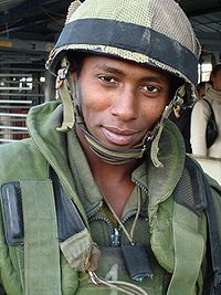 Ethiopian Israeli soldier.