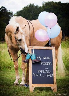 New rider baby announcement