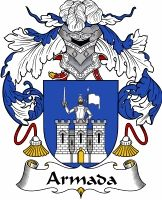 Armada family crest Coat of Arms #apparel #gifts #glassware #embroideries #prints #history #gift #scrolls #mugs #steins #flags #family #reunion #wine #glasses #genealogy #code of arms #shield #mousepads #shirts #t-shirts #jpeg