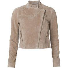 Vero Moda Pam Short Leather Jacket Km ($130) via Polyvore