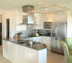 free standing range hood Kitchen Beach with ceiling lighting kitchen peninsula