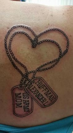 Army Mom Tattoo - Dog Tags  Phillips Ink