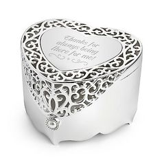 ❤️heart shaped jewelry box❤️ Heart box x Polished silver heart box. Pierced heart with pearl accent. Front heart is not engraved but can be. Double Heart Necklace, Circle Pendant Necklace, Sterling Silver Cross, Heart Locket, Jewelry Box, Heart Jewelry, Filigree, Gift Ideas, Party Ideas