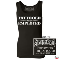 Tattooed and Employed Tank Top