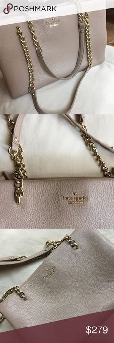 """NWT Kate Spade Emerson Small Phoebe Leather Bag New with tags, perfect condition. Lush leather and clean lined inside. Beautiful color with a subtle sparkle in some lighting. Magnetic snap tab closure. Comes with dust bag that it was kept inside of at all times. 8.2"""" high and 11.9"""" wide. kate spade Bags"""