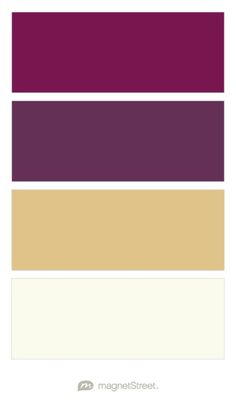 Sangria, Eggplant, Gold, and Ivory Wedding Color Palette - custom color palette created at MagnetStreet.com