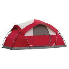 コールマンの大型テント 日本未入荷です。 キャンプ テント コールマン 8人用ドームテント レッド