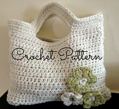 Crochet Pattern - Flora Crochet Bag - Cute Little Girls Bag - Instant Download