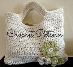 Crochet Pattern - Flora Crochet Bag - Cute Little Girls Bag - Instant Download