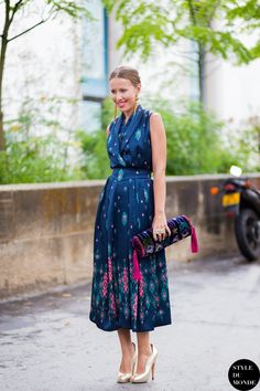 great dress. #KseniaSobchak in Paris. | More outfits like this on the Stylekick app! Download at http://app.stylekick.com