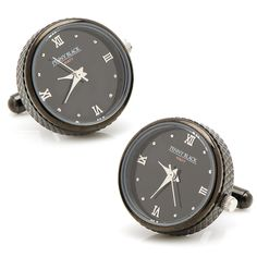 Black Stainless Steel Functional Watch Cufflinks allow you to wear engineering at its finest.A true collectors piece, actual movements are taken from wind-up watches watches of the early to mid Century. High End Watches, Watches For Men, High End Watch Brands, Designer Cufflinks, Watch Cufflinks, Stylish Watches, Unique Watches, Penny Black, Black Stainless Steel