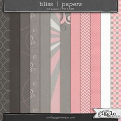 {Bliss} Paper Pack Freebie by A Little Giggle Designs Digital Scrapbooking
