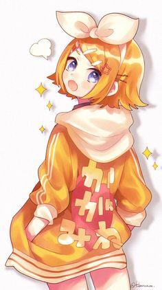 Chica Gato Neko Anime, Chica Anime Manga, Anime Chibi, Anime Art, Len Y Rin, Kagamine Rin And Len, Kaito, Vocaloid Ia, Girls Anime