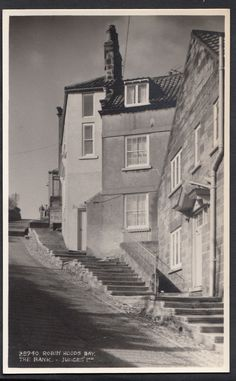 The Bank Postcard RHB Robin Hoods Bay, Yorkshire England, Seaside, The Past, Black And White, Places, Photos, Painting, Beautiful