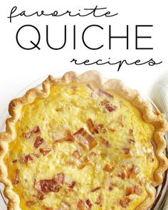 Rich, savory custard, flecked with delicious things like bacon, cheese, and fresh vegetables and baked in a buttery crust: What's not to love? Quiche is the perfect make-ahead dish for company's-coming brunches, lunches, and dinners.
