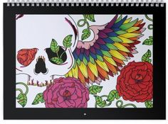 2016 Wall Calendar 12 Months of Skulls Day of the by ToniTiger415