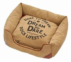 DandD Lifestyle Sofabed Dream Pet Bed, 55 by 55 by 23cm, Raw Sienna >>> See this great product. (This is an affiliate link) #DogBeds