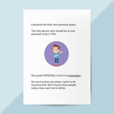 This personal space social story will help your child understand the concept of personal boundaries. It explains how there are difference boundaries depending on the relationship you have and touches concepts of consent. Preschool Special Education, Special Education Teacher, Personal Space Social Story, Learning Disabilities, Multiple Disabilities, Appropriate Behavior, Social Skills Activities, School Social Work, Social Stories