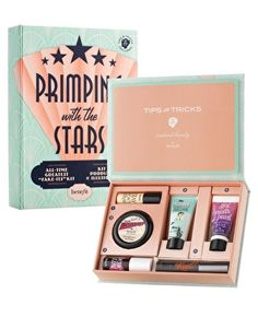 Benefit Cosmetics Primping with the Stars. Benefit Cosmetics Primping With The Stars. Makeup Dupes, Makeup Brands, Makeup Products, Benefit Products, Beauty Products, Beauty Make Up, Beauty Care, Makeup Package, Makeup Gift Sets