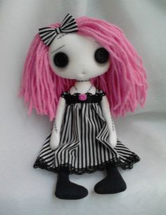 Gothic Art Rag Doll  Lillyann by ChamberOfDolls on Etsy