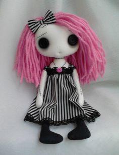 Gothic Art Rag Doll  Lillyann by ChamberOfDolls on Etsy