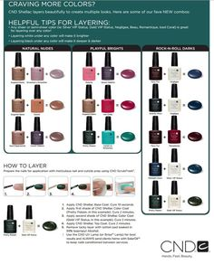 CND+Shellac+Color+Layering | CND Shellac Layering Colors http://www.cnd.com/pro-products/cnd ...