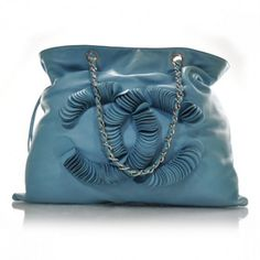 Designer Clothes, Shoes & Bags for Women Chanel Tote, Chanel Handbags, Coco Chanel, Lambskin Leather, My Bags, Bucket Bag, Fashion Accessories, Turquoise, Sunglasses