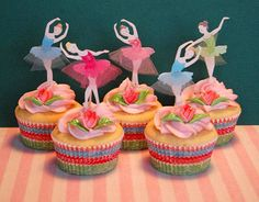 BAllet birthday party cupcake kit cupcake toppers BAllet