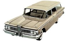 1959 Ford Edsel Villager Station Wagon - Promotional Advertising Poster