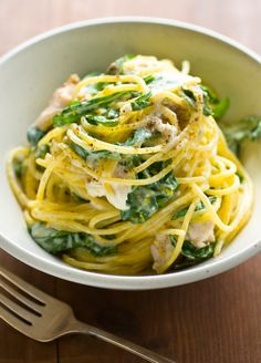 Meyer Lemon Pasta with smoked trout