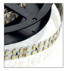 LAMPO LEDADDPIP20BC STRISCIA A LED STRIP LED 2,5MT POTENZA AL MT= 38.4W ALIMENTAZIONE= 24V DC LUMEN AL MT= 3020lm TEMPERATURA DI COLORE 3000K BIANCO CALDO CRI >80Ra 120° IP 20 FINITURA Bianco immagini