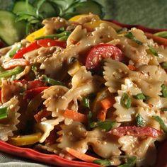 Pasta Salad   Meals.com - This Asian-inspired Peanut Sesame Pasta ...