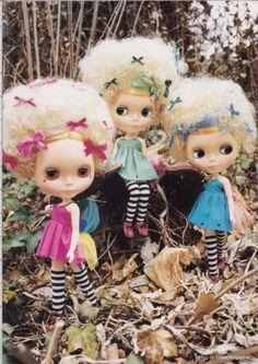<3 three wee fairies <3 #blythe