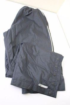 Reebok men  pants (XL) black polyester nylon pre-owned #Reebok