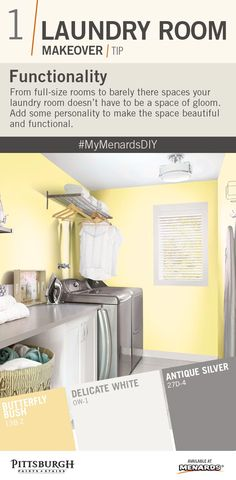 Laundry Room Makeover Tips Paint Color Inspiration Add To Your Transform The E A Palette Of Soft Yellow