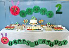A Very Hungry Caterpillar Birthday Party - Dessert Table by Made With Pink, via Flickr