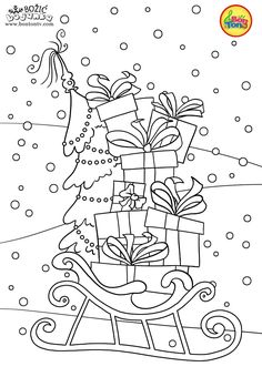 Christmas Coloring Pages - Božić bojanke za djecu - Free Printables for Kids - Christmas Tree, Cookies, Santa Claus and Snowman, Reindeers and more on BonTon TV - Coloring Books Santa Coloring Pages, Baby Coloring Pages, Quote Coloring Pages, Coloring Sheets For Kids, Coloring Books, Christmas Trees For Kids, Christmas Colors, Free Coloring Pictures, Primitive Colors